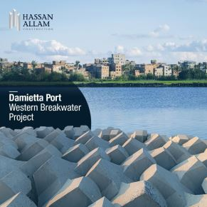 Hassan Allam Construction is pleased to announce its new agreement with Damietta Port Authority to construct a new western breakwater to protect the New-Damietta harbor