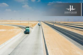 Hassan Allam Roads and Bridges successfully delivered two new concrete roads that are 70-Km long, serving the Cairo-Suez and the Sokhna-Cairo routes